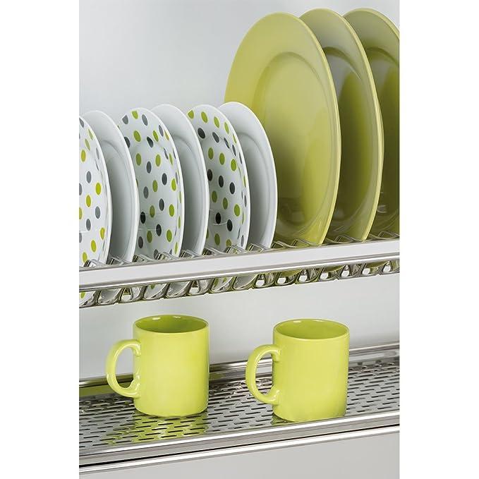 Emuca 8934265 Escurridor de platos y vasos en acero inoxidable para mueble  de cocina de ancho 50cm  Amazon.es  Hogar a5890f5a1aca