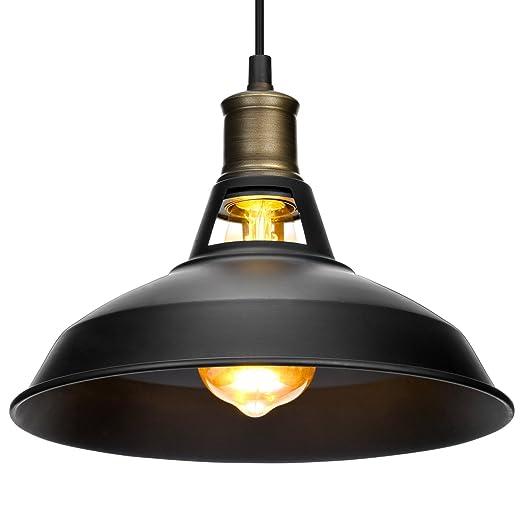 Vintage lámpara de techo colgante, Oak Leaf negro bronce lámpara Industrial Retro Lámpara colgante lámpara de araña de metal para moderno loft bar ...