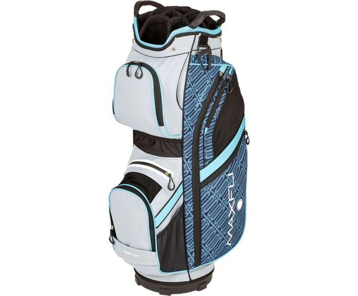 Maxfli Women's 2018 Cart Golf Bag - 14 Way - 10 Pockets - Teal/Gray/Black