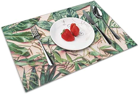 4 Dining Placemats /& 4 Coasters Set Cork Tablemats Dining Family Home Kitchen