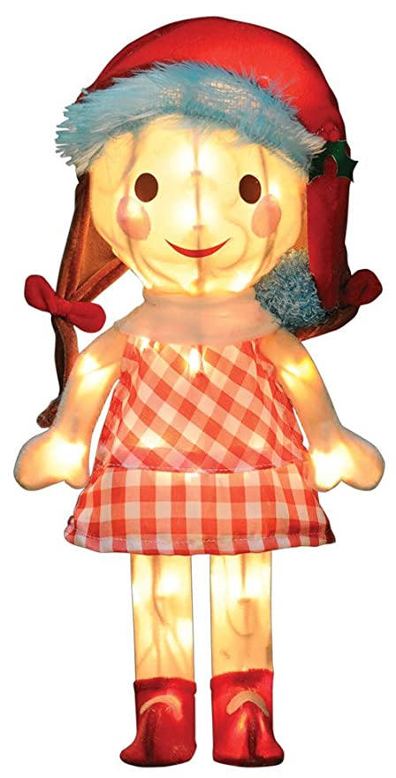 productworks 18 inch pre lit island misfit toys sally doll christmas yard decoration
