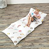 MHJY Floor Lounger Cushion Cover Patterned Pillow Case for Kids Adults Fold Out Lounger Fabric Pillow Cover for Bed Indoor Outdoor Activities (NO insert) White, 92'' L x 29'' W
