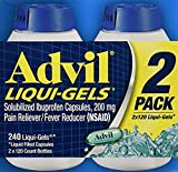 Advil Liqui-Gels Pain Reliever 4Pack (240 Count Each) Alwelw