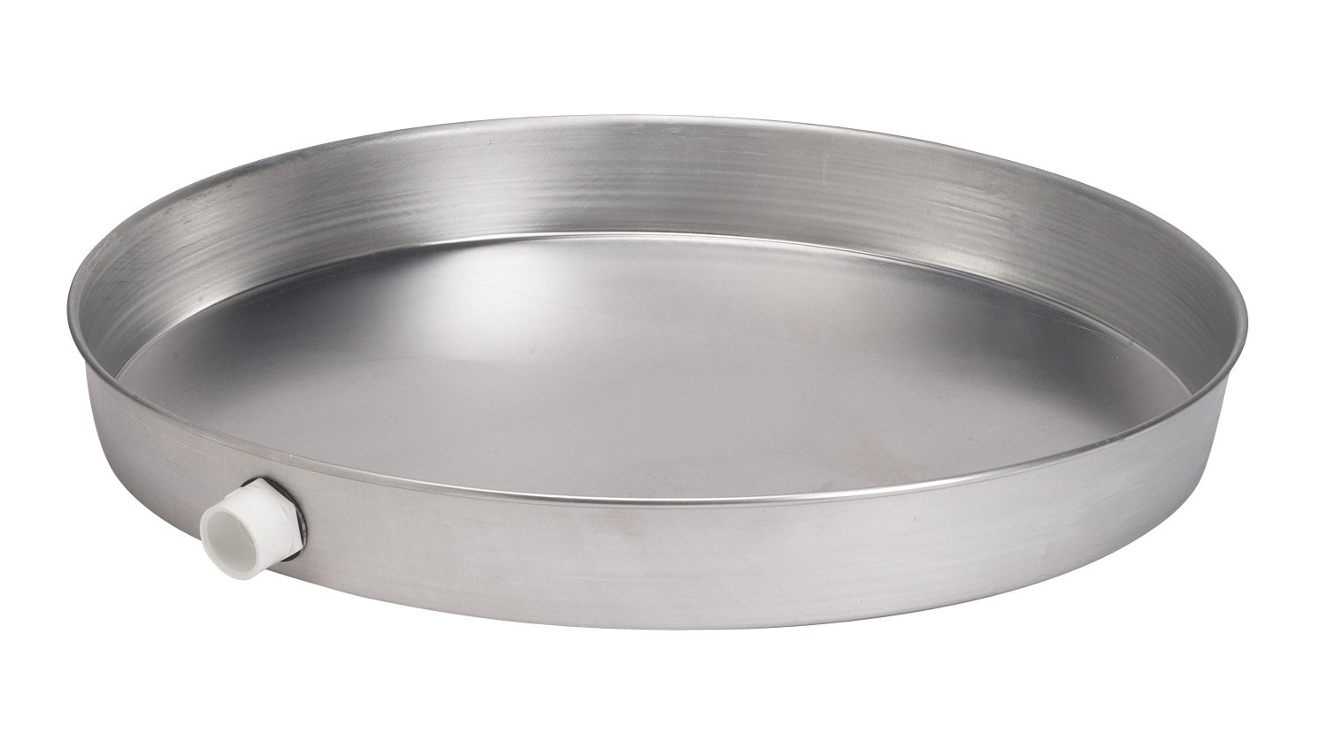 Oatey 34083 Aluminum Pan with 1-1/2-Inch PVC Fitting, Pan without Pre-Drilled Hole, 24-Inch
