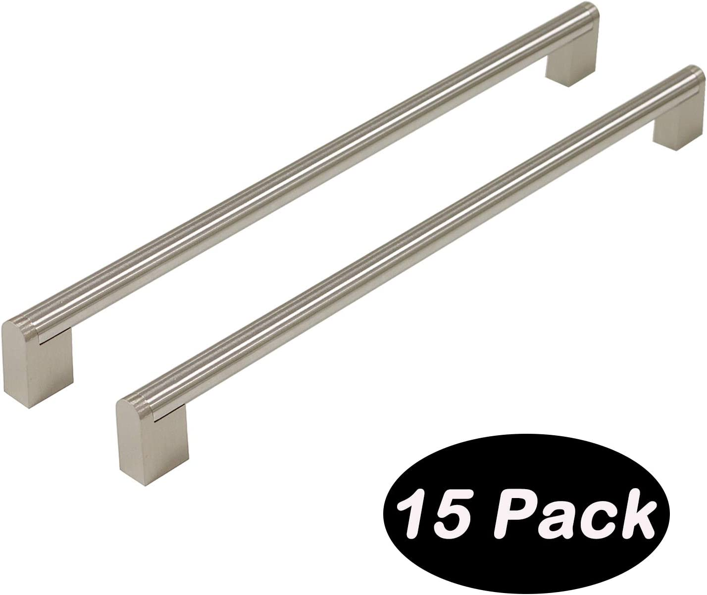 14-2//5inch 12-4//5inch 1 Pack 320mm Brushed Nickel Hole Centers Diameter 14mm Stainless Steel Boss Bar Kitchen Cabinet Door Handles and Pulls Cabinet Knobs Length 360mm