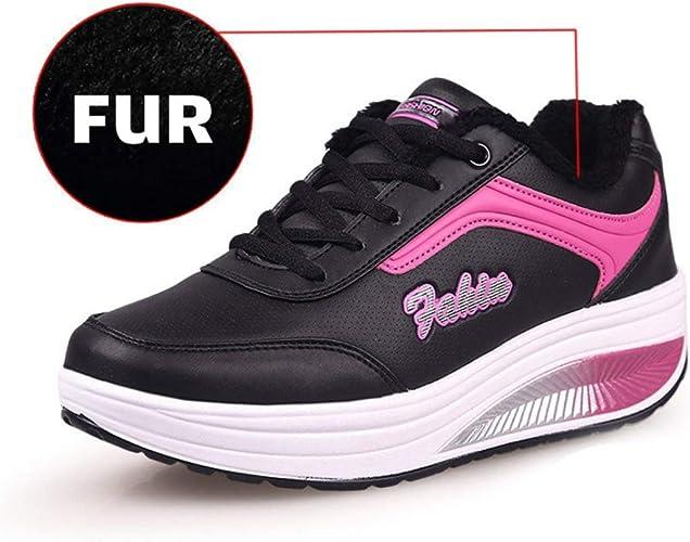 Zapatillas de Deporte de cuña para Mujer Zapatos de batido ...