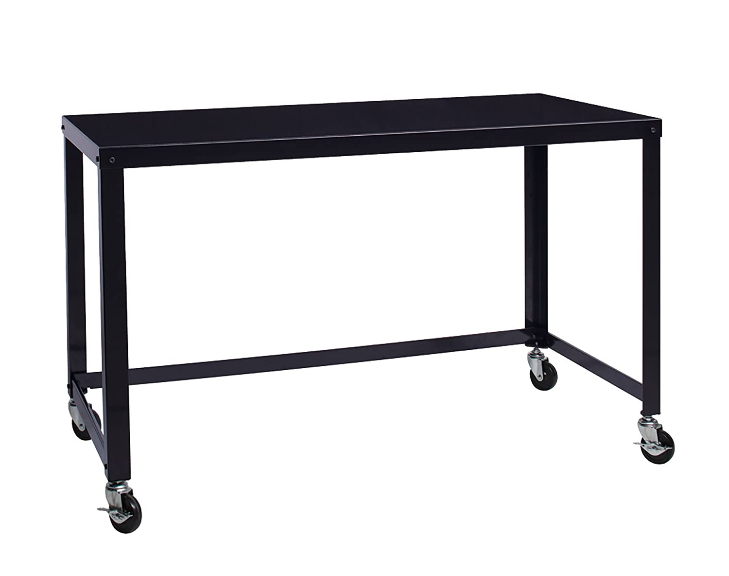 """Office Dimensions 21647 Black RTA 48"""" Wide Mobile Metal Desk Workstation Home Office Collection, 29.5"""" x 48"""" x 24"""""""