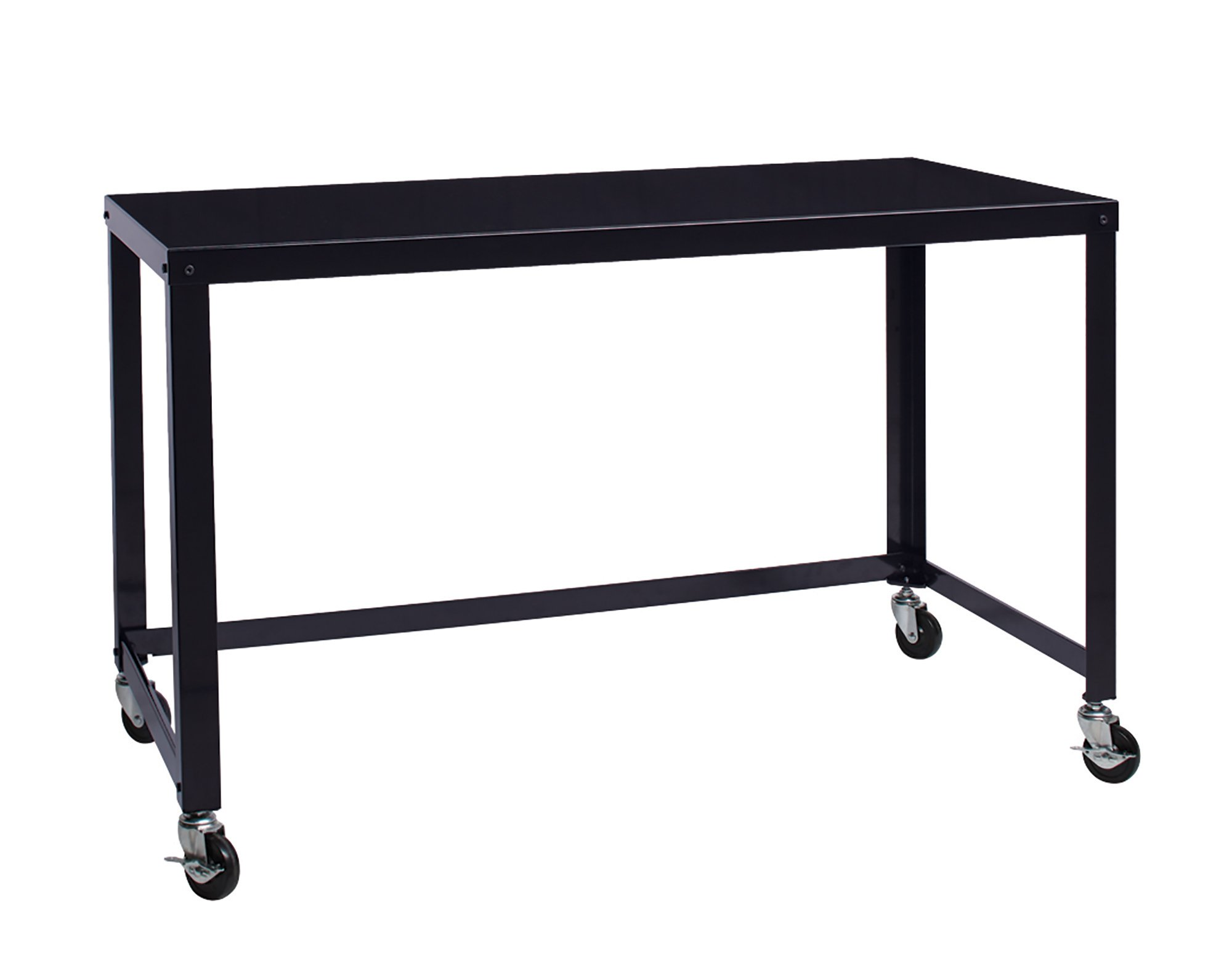 Office Dimensions 21647 Black RTA 48'' Wide Mobile Metal Desk Workstation Home Office Collection, 29.5'' x 48'' x 24'' by Office Dimensions