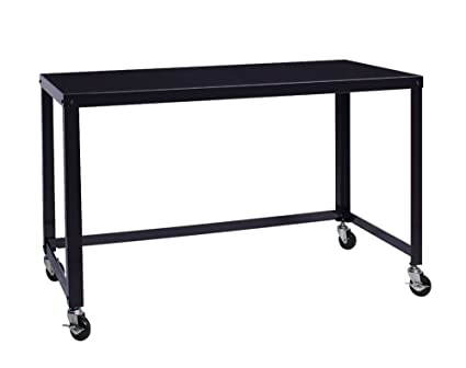 Office Dimensions 21647 Black RTA 48u0026quot; Wide Mobile Metal Desk  Workstation Home Office Collection,