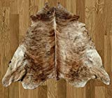 Homemusthaves White Black Brown Brazilian Approximately 5x8 5 x 8 Feet Cowhide Rug Cow Hide Skin Leather Area Rug