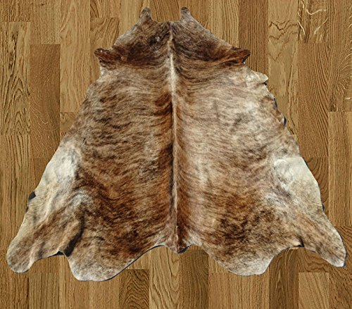 Homemusthaves White Black Brown Brazilian Approximately 5x8 5 x 8 Feet Cowhide Rug Cow Hide Skin Leather Area Rug by Homemusthaves