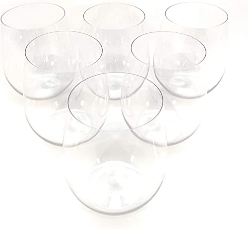 Oojami 48 piece Stemless Unbreakable Crystal Clear
