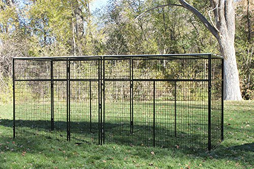 Cove Products K9 Kennel Store 7'Tall 8' X 16' Welded Wire Complete Dog Kennel System