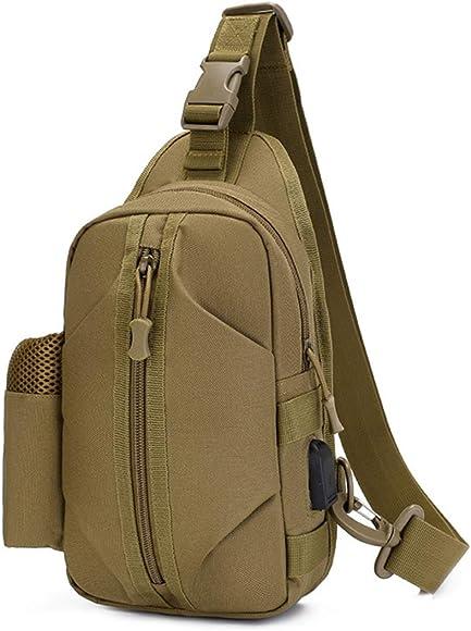 BraveHawkOutdoors Sling Crossbody Bag Small 800D Military Nylon Oxford Water Resistant Utility EDC Chest Pack Men Women Outdoor Shoulder Daypack Organizer for Travel Hiking