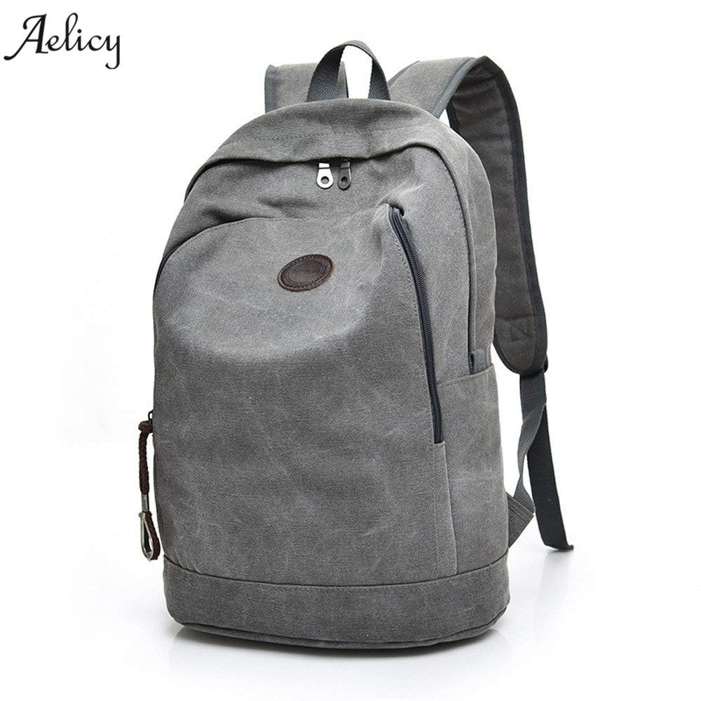 Amazon.com: 2018 Mans Canvas Backpack Travel Schoolbag Male Men Large Capacity Rucksack Shoulder School Bag Mochila Escolar: Kitchen & Dining