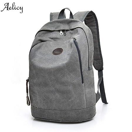 Amazon.com: 2018 Mans Canvas Backpack Travel Schoolbag Male Men Large Capacity Rucksack Shoulder School Bag Mochila Escolar: Kitchen & Dining