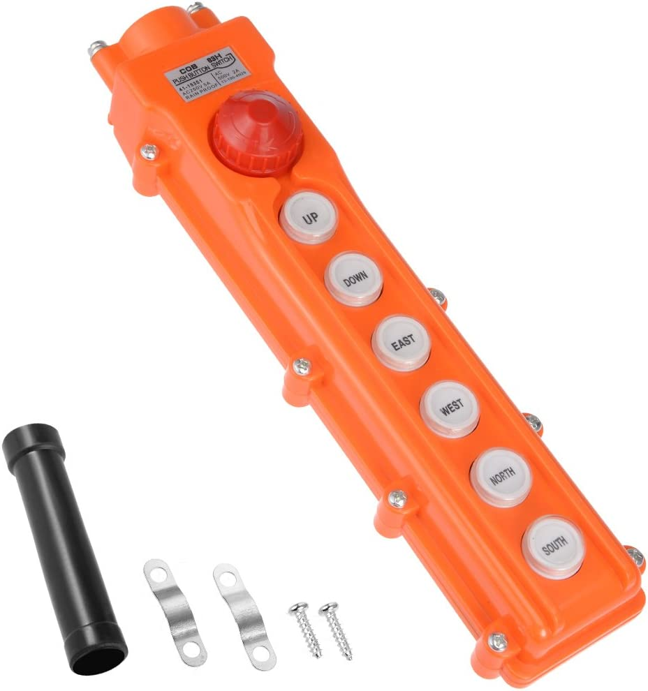 ORANGE 4 button replacement crane switch box