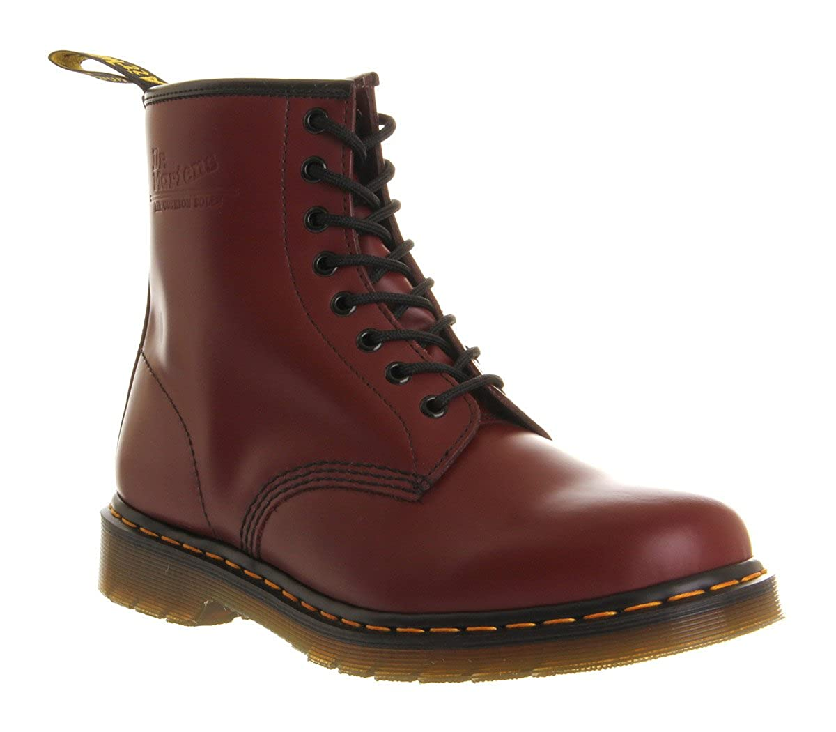 Dr. Martens DM 8 Eye Lace Cuir de coffre, Rouge cerise - Rouge - Red,   Amazon.fr  Chaussures et Sacs 34d8dadbd845