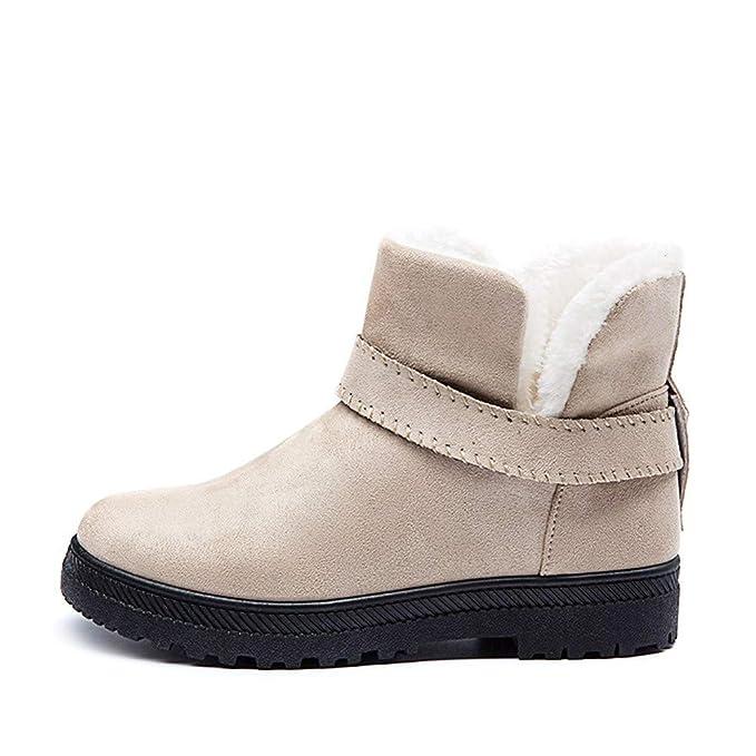 Zapatos para Mujer,Mujer Botas Mujer Botas de Nieve Botines Mujer Invierno Ante Botas Casual