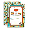 Fondue Party Themed Fill In Invitations set of 10 with envelopes