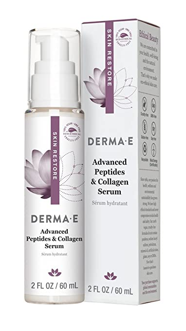 Peptide Infusion Advanced Night Treatment Serum 30ml Firming DMAE Cleanser with Alpha Lipoic Acid & C-Ester - 6 fl. oz. by DERMA-E (pack of 6)