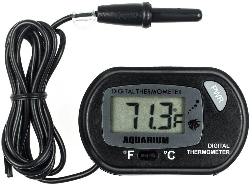 LFOEwpp7 Aquarium Thermometer Mini LCD Digital Aquarium Thermometer Temperature Measurement Tool with Probe