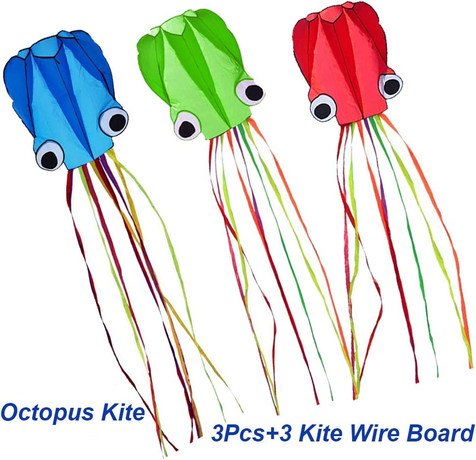 Milky House 3 Pack Octopus Kite