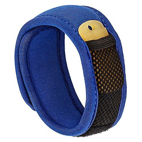 Bramble Premium Mückenschutz, abschreckendes Insekten-Armband mit zwei Nachfüllpackungen. Kann am Arm oder Knöchel getragen werden. Ohne Deet Spray (keine chemische Substanzen) - blau