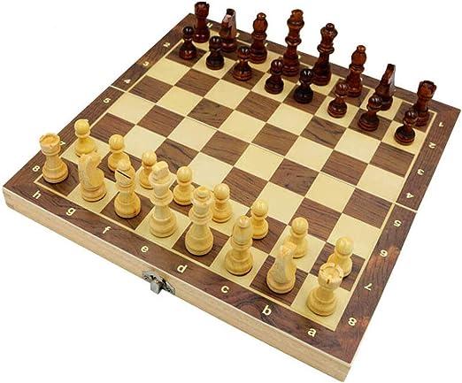 Juego de Ajedrez Internacional plegable de madera juego de ajedrez ...