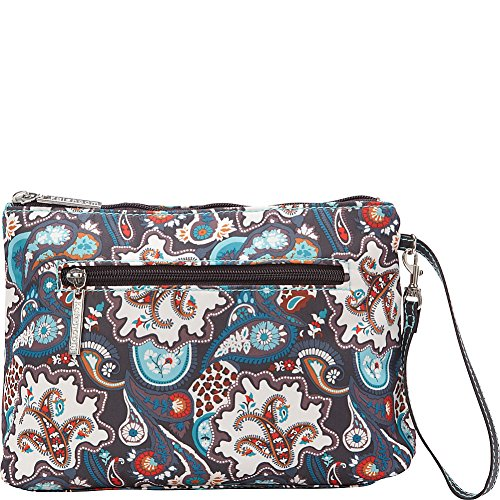 Kalencom Portable Changing Station, Safari Paisley, Water Resistant Diaper Clutch Baby Changing ()