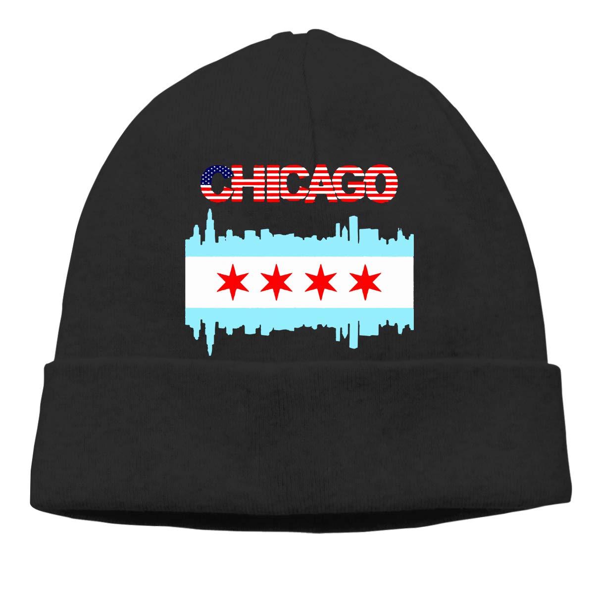GDSG5/&4 Chicago City Skyline Men /& Women Thick Cycling Beanie Skull Cap