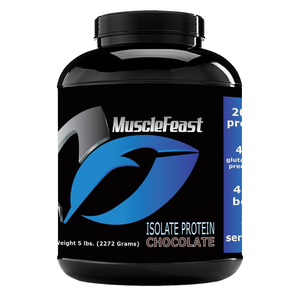 Grass Fed Whey Protein Isolate - by Muscle Feast | All Natural, Lactose Free and Hormone Free | NO Soy, Gluten or GMOs | 4.6g of BCAA's Per Serving (5lb, Chocolate)