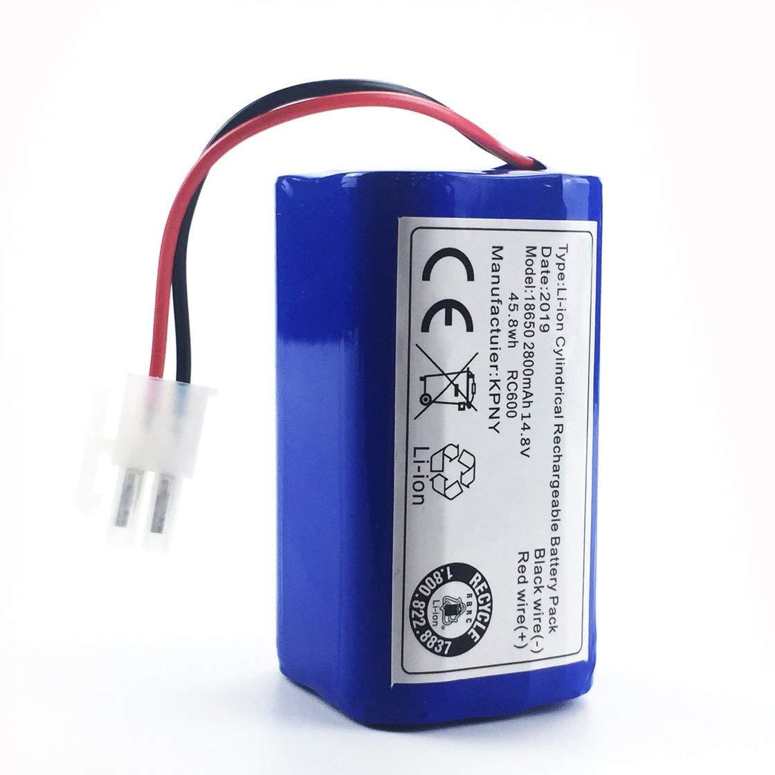 Gwendoll 14.8 V 2800 Mah Robot Aspirador Reemplazo de batería para ...