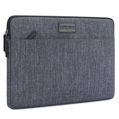 KIZUNA Laptop Sleeve 13 Inch Water-Resistant Shockproof Notebook Case Carrying Bag for 13.3 Computer / 13 MacBook Pro / 13.9 HUAWEI MateBook X Pro, Grey