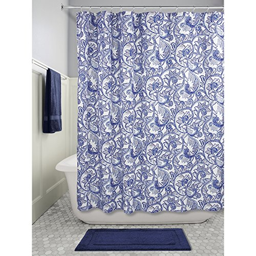 InterDesign Mosaic Vine Fabric Shower Curtain, 72