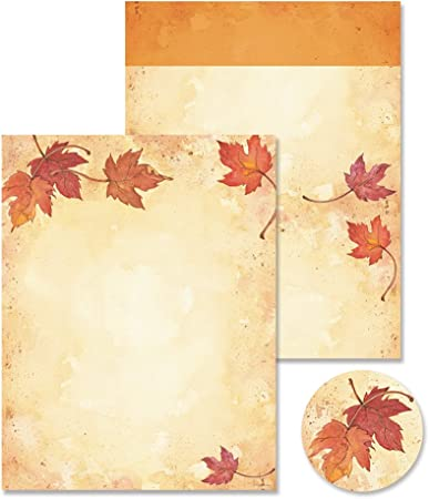Sentimentally Yours 8 x 8  Stencil Falling Leaves