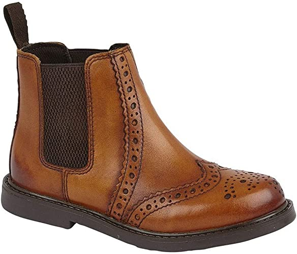 Roamers Johnny Boys Leather Brogue