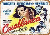 Wall-Color 9 x 12 METAL SIGN - 1942 Casablanca Movie - Vintage Look Reproduction
