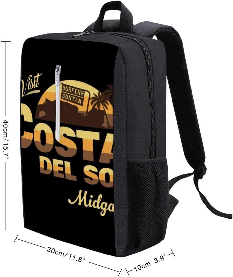 Final Fantasy Visit Costa Del Sol Midgar Backpack Daypack Rucksack Laptop Shoulder Bag with USB Charging Port