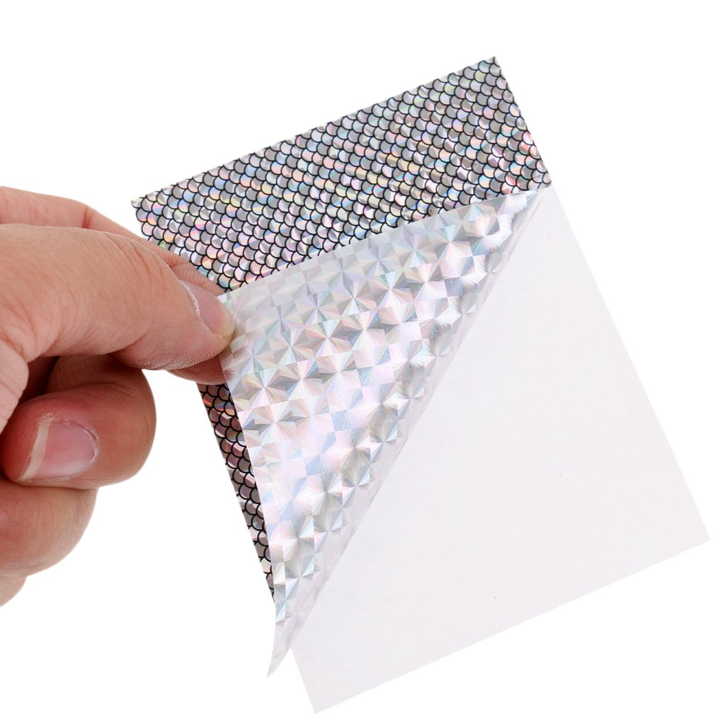 DIY Tackle Crafts CUTICATE 5pcs Fishing Lure Sticker Fish Scales Tape Holographic Adhesive Lure Tape for Fly Tying