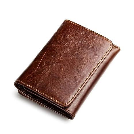 Billetera hombre Cartera delgada para hombre con monedero ...