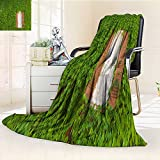 YOYI-HOME Super Soft Duplex Printed Blanket Green Plants Crawling Through The windowsill Warm Microfiber All Season Anti-Static,2 Ply Thick,Hypoallergenic/79 W by 47'' H