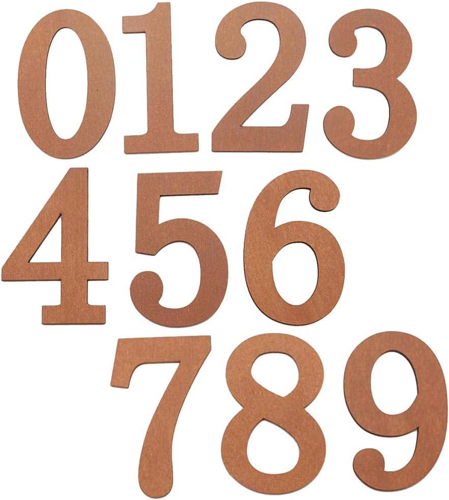 Homyl Retro Gusseisen Zahlen Nummer Ziffern DIY Hausnummer 0-9 Nummer 0