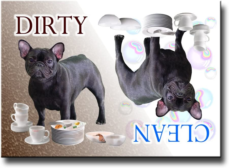French Bulldog Clean Dirty Dishwasher Magnet No 4