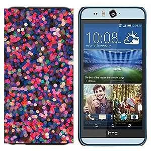 YiPhone /// Prima de resorte delgada de la cubierta del caso de Shell Armor - Las luces del árbol de vacaciones Rosa Púrpura - HTC Desire Eye M910x