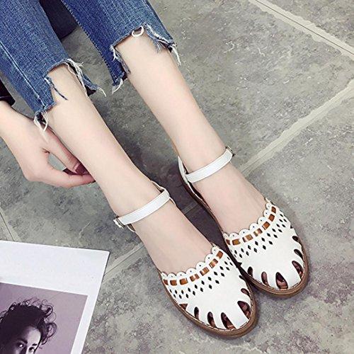 Singolo 35 Fondo shoes con Baotou Fondo Scarpe Sandali Femminili 40 Piatto Odejoy fSvTwO8qq