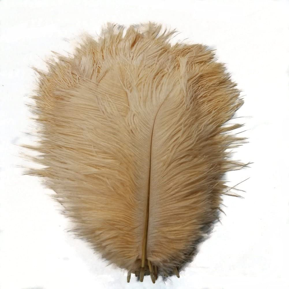 45-50cm AABABUY Pack of 5,Naturl Ostrich Feathers 18-20inch Black Plumes Wedding,Clothing,Party,Table Decoration,DIY