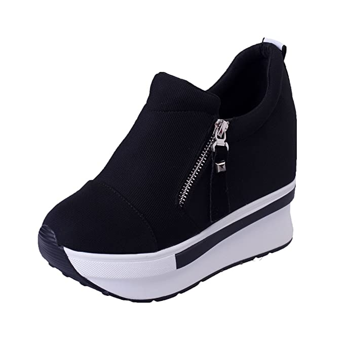 Women S Girls Fashion Sneakers Thick Soled Increase Shake Platform Shoes For Sports Running Hiking