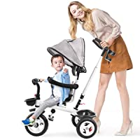 Deals on KASPURO 4 in 1 Kids Tricycle with Adjustable Canopy
