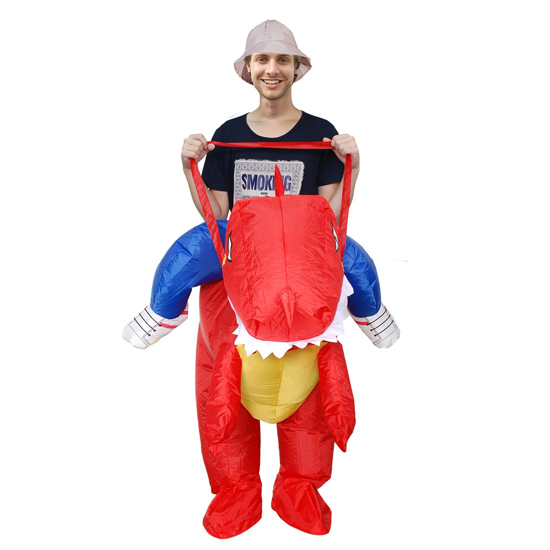 Kooy Inflatable Dinosaur Unicorn Cowboy Costume Halloween Costume Inflatable Costumes for Adults (red Dinosaur) by Kooy (Image #2)